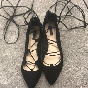 Forever 21 Lace-up Flats